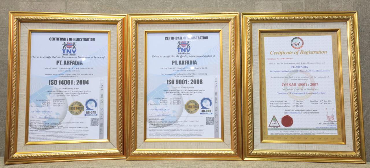 Arfadia ISO dan OHSAS